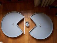 Internal revolving kitchen carousel unit