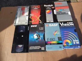Eight VHS Video Tapes,used