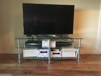 Glass Widescreen TV Unit for Sale £30 ono