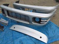 Genuine Subaru Impreza WRX OEM body kit, splitter, bumper, rear spoiler, grills