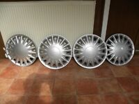 "NEW 4 SAAB 900 1992-1994 15"" 16 Spoke Silver Plastic Wheel Trim"