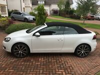 VW Golf Cabriolet in Excellent Condition, Very Low mileage. Automatic Tiptronic DSG, Arctic White