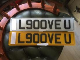 L900VE U private number plate transfer fee paid