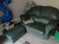 FREE! 2 Seater Sofa, Chair and Footstool/puffe.
