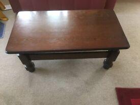 Living Room Dark Oak Coffee Table