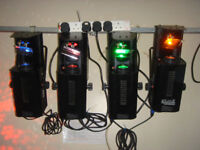 4 x Acme Mobile Dancer Disco lights in case 150w, all working and in exceptional condition.