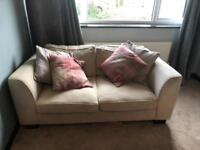 3 seater & 2 seater sofa plus foot stool