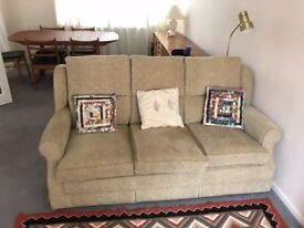 3 Seater sofa and two arm chairs