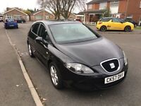 2007 SEAT LEON 1.6 BLACK 68K FULL SERVICE HISTORY LADY OWNER 07986737377