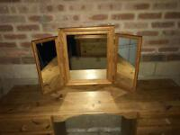 Dressing Table Pine Mirror