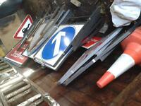 Various road signs for sale