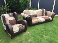 Designer Dfs patchwork sofa suite £2300 new can deliver
