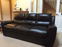Leather sofa 3 seater and 2 seater - Aldiss - excellent condition