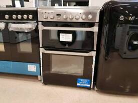 INDESIT ID60C2XS 60cm Electric Ceramic Double Oven & Grill - Fan Oven 10Yrs Guarantee
