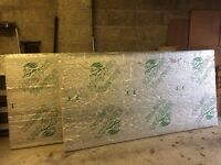 2 x 8' x 4' Sheets of 100mm Kingspan Insulation - Unused