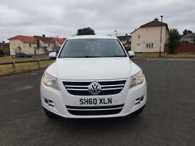 2010 VW TIGUAN 2.0 TDI 4 MOTION WHITE 1 OWNER NOT BMW AUDI MERCEDES VOLVO SKODA SEAT FORD VAUXHALL