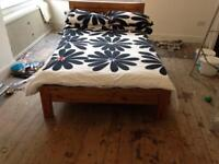 Solid Oak - Queen Size bed with Mattress