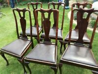 6 VINTAGE DINING CHAIRS - Ideal for a project