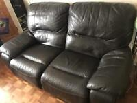 2 seat recliner leather sofa
