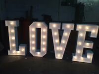 lOVE letters for hire- £99 (Giant love letters)