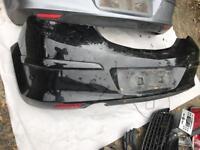 VauVauxhall Astra 2006 to 2010 3 door black rear bumper