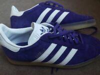 Unisex purple adidas gazelles worn twice