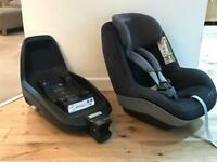 Maxi cosi 2 way pearl car chair seat and base. Group 1 rear and front facing. Excellent condition