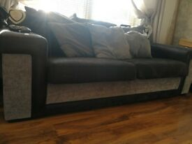 Sofa £100 3 seater and armchair and foot stool