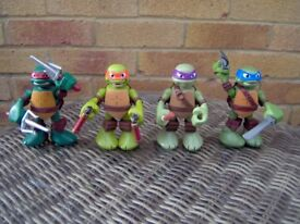 ninja turtles x 4 all talking