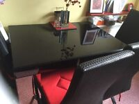 Kitchen table and chairs perfect condition like new. Was £599 sell £150 or nearest offer.