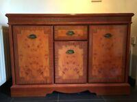 Regency Style Yew Veneer Three-Door Sideboard