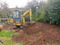 man and mini or micro digger Rochdale bolton bury leigh salford