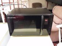russell hobbs 23l 800w black microwave oven with instructions