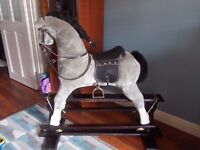 Big Rocking Horses Leather Saddle Excellent Con