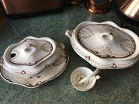 Antique three piece Lovely dish set