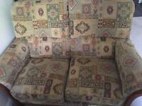 2 Seater Sofa, 2 arm chairs and a footstool.