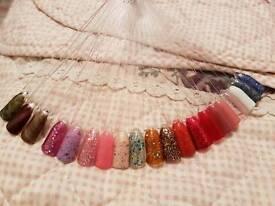 £10 Gel Manicure Pedicure Therapist Gelish Shellac Glitter Chameleon Cats eyes