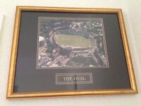 CRICKET MEMORABILIA - PROFESSIONALLY FRAMED PICTURE of 'THE OVAL CRICKET GROUND ' IDEAL XMAS GIFT