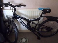 21 gear mountain bike with disc brakes and full suspension