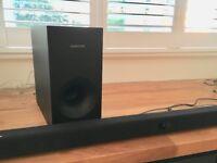 Samsung soundbar with subwoofer - as new