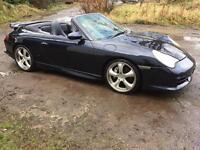 2002 Porsche 911 carrera 4 tiptronic S convertible spares or repairs bargain