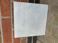 White/Grey floor tiles