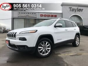 2014 Jeep Cherokee Limited 4x4 V6 w/Leather, Blindspot Detection