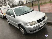 2001 VOLKSWAGEN POLO 1.4 AUTOMATIC PETROL 5 DOOR HATCHBACK 5 SEAT MOT NON RUNNER WHOLE CAR OR PARTS