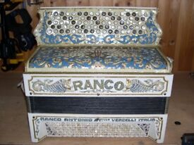 Antonio Ranco, Excellent Condition (1920), 3 Voice, Musette Tuned, C System, Chromatic Accordion.