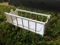 Wooden child's baby cot