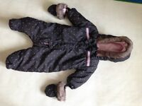 Boy and girl snow suits 0-3, 3-6, 6-9 months, boy and girl