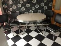 American diner table with chairs