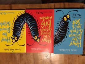 Set of 3 Harry the Poisonous Centipede books. Suitable for children from about 5 years.