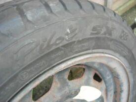 Michelin Tyre 185-55-14 on steel wheel
